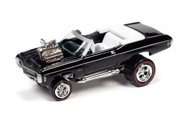 JOHNNY LIGHTNING 1/64scale 1969 Chevy Impala Convertible Gloss Black  [No.JLSF018B1BK]