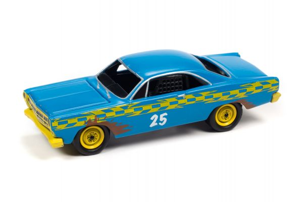 JOHNNY LIGHTNING 1/64scale 1967 Ford Fairlane Demolition Derby Blue  [No.JLSF018B4BL]