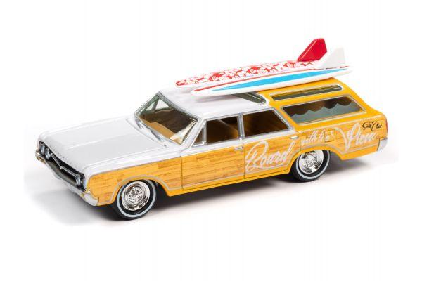 JOHNNY LIGHTNING 1/64scale 1964 Oldsmobile Vista Cruiser White / Yellow  [No.JLSF018B5W]