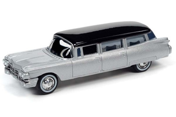 JOHNNY LIGHTNING 1/64scale 1959 Cadillac Hearse Silver  [No.JLSP091]