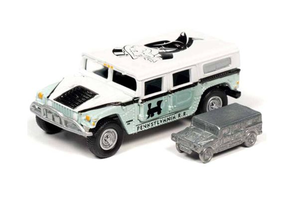 JOHNNY LIGHTNING 1/64scale Monopoly Hummer H1 (Light Green / White) with Token (Monopoly piece)  [No.JLSP094]