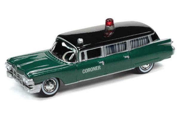 JOHNNY LIGHTNING 1/64scale 1959 Cadillac Coroner Car Dark Green / Black  [No.JLSP100]