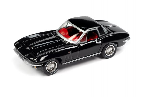 JOHNNY LIGHTNING 1/64scale 1965 Chevrolet Corvette Hardtop Gloss Black  [No.JLSP103A]