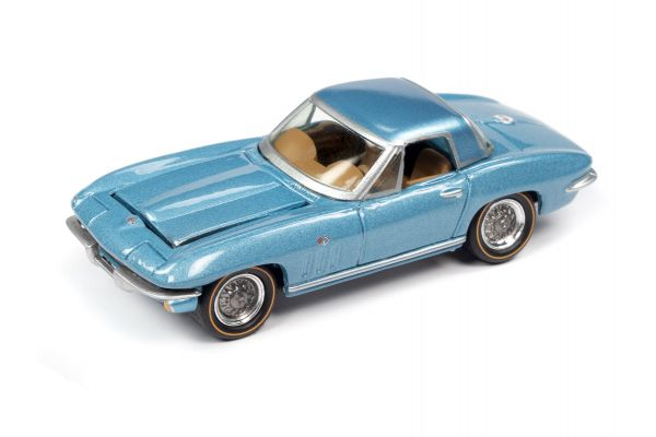 JOHNNY LIGHTNING 1/64scale 1965 Chevrolet Corvette Hardtop Mist Blue  [No.JLSP103B]