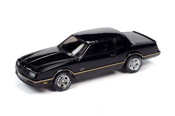JOHNNY LIGHTNING 1/64scale 1987 Chevrolet Monte Carlo Black / Gold Stripe  [No.JLSP104B]