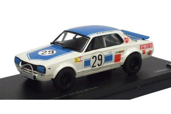 KYOSHO 1/43scale Nissan Skyline 2000GT-R RACING No.29 (KPGC10) Blue [No.K03026A]