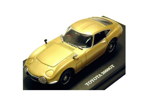 KYOSHO 1/43scale TOYOTA 2000GT Gold [No.K03031G]