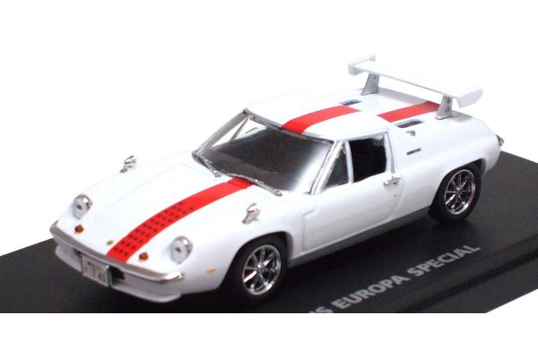 KYOSHO 1/43scale LOTUS EUROPE SPECIAL 'THE CIRCUIT WOLF' White / Hubiki Yuya [No.K03074W]