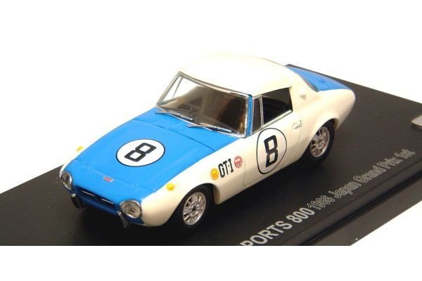 KYOSHO 1/43scale TOYOTA  SPORTS  800  RACING  1966 JAPAN  GP  Win No.8 [No.K03092E]