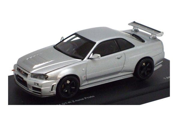 KYOSHO 1/43scale NISMO Skyline R34 GT-R Z-tune Proto Silver [No.K03385S]