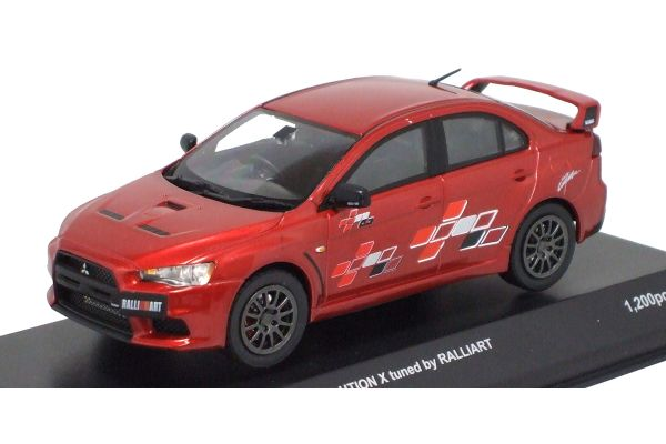 KYOSHO 1/43scale Mitsubishi Lancer Evolution X tuned by RALLIART Red Metallic [No.K03493R]