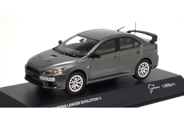 KYOSHO 1/43scale Mitsubishi Lancer Evolution X Nurburgring (TestCar)  [No.K03494NU]