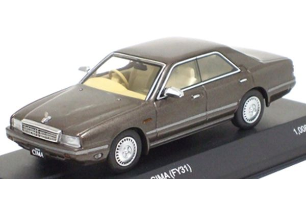 KYOSHO 1/43scale Nissan Gloria Cima (FY31) Grayish Brown [No.K03709BE]