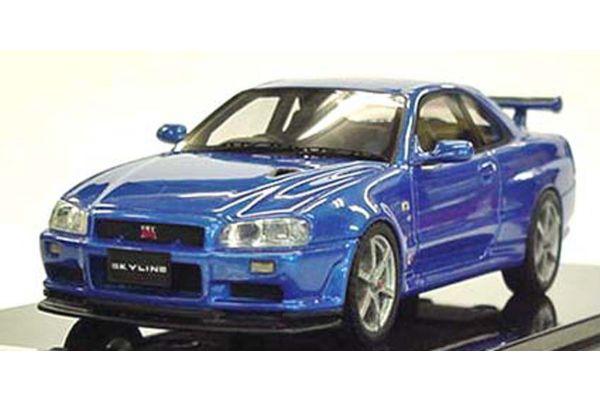 KYOSHO 1/43scale Nissan Skyline GT-R V-SPEC II (BNR34) Bay-side Blue [No.K04011BL]