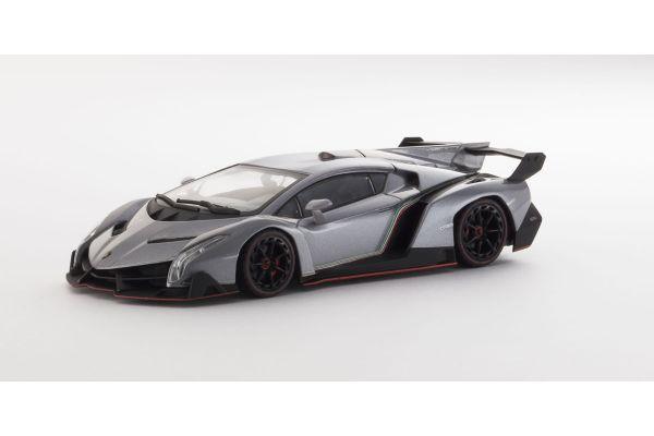 KYOSHO 1/43scale Lamborghini Veneno Grey/Red [No.K05571GR]