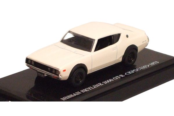KYOSHO 1/64scale Skyline GT-R (KPGC110 Ken & Mary) White [No.K06031W]