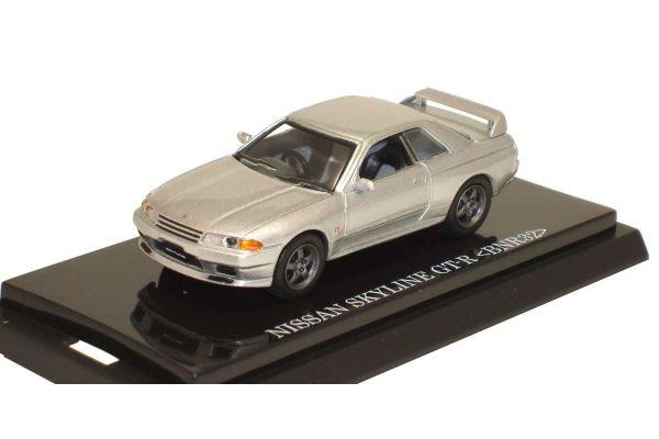 KYOSHO 1/64scale NISSAN SKYLINE GT-R 1989 (BNR32) Silver [No.K06061S]