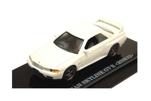 KYOSHO 1/64scale NISSAN SKYLINE GT-R 1989 (BNR32) White [No.K06061W]
