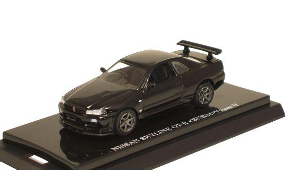 KYOSHO 1/64scale Skyline GTR (34) V-spec II (Late Version) Black [No.K06084BK]