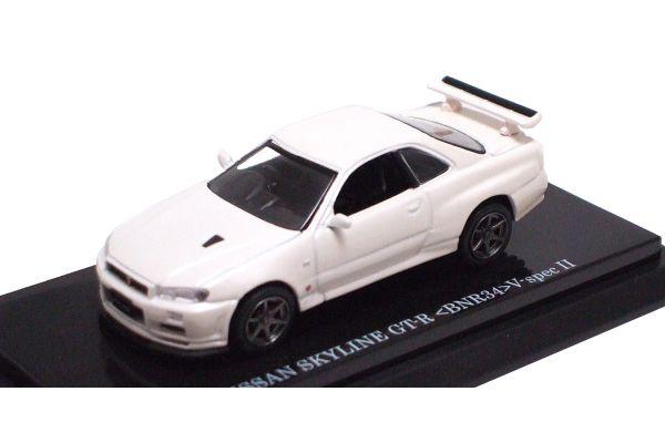 KYOSHO 1/64scale NISSAN SKYLINE GT-R V-SPEC II (BNR34) Pearl White [No.K06084PW]