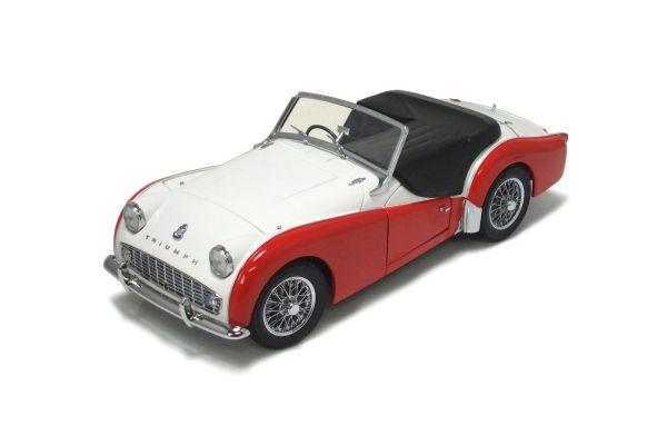 KYOSHO 1/18scale Triumph TR3A White/Red [No.K08032WR]
