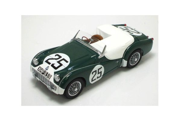 KYOSHO 1/18scale TRIUMPH TR3S 1959 LM (No.25) GREEN / WHITE [No.K08033A]