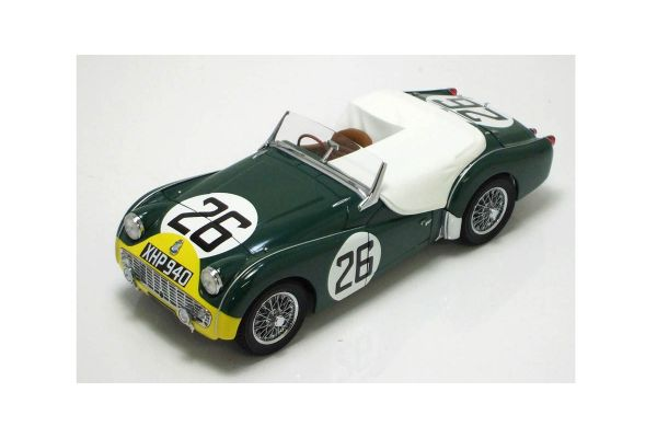KYOSHO 1/18scale TRIUMPH TR3S 1959 LM (No.26) GREEN / YELLOW [No.K08033B]