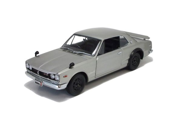 KYOSHO 1/18scale Nissan Skyline 2000 GT-R (KPGC10) Silver [No.K08125S]