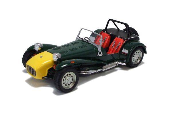 KYOSHO 1/18scale Caterham SuperSeven Clam Shell Fenders Yellow Nose/Green [No.K08223GY]