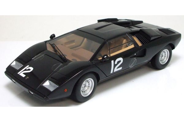 KYOSHO 1/18scale Lamborghini Countach LP400(The Circuit Wolf) Hama's Black Panther (MuseumPackage) Black [No.K08321CWM]