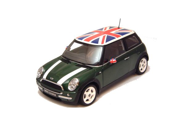 KYOSHO 1/18scale MINI COOPER (LHD) Green/Whiteline / LHD [No.K08552GUK]