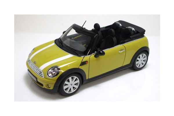 KYOSHO 1/18scale BMW Mini Cooper Convertible 2009 (R57) Interchange Yellow [No.K08749Y]