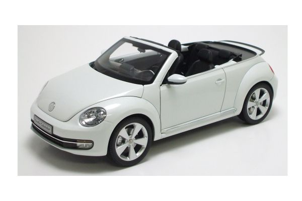 KYOSHO 1/18scale Volkswagen The Beetle convertible 2013 Oryx White [No.K08812PW]