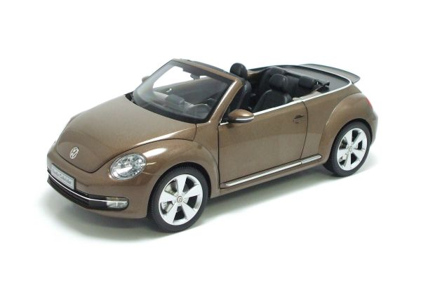 KYOSHO 1/18scale Volkswagen The Beetle convertible 2013 Toffee Brown Metallic [No.K08812TBR]