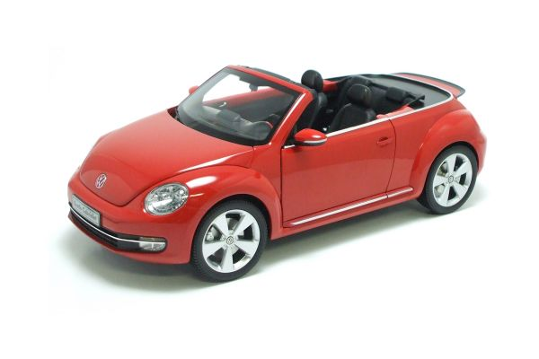 KYOSHO 1/18scale Volkswagen The Beetle convertible 2013 Tornado Red [No.K08812TR]