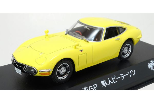 KYOSHO 1/43scale Toyota 2000GT (1970) The Circuit Wolf Yellow [No.KS03039CWM]