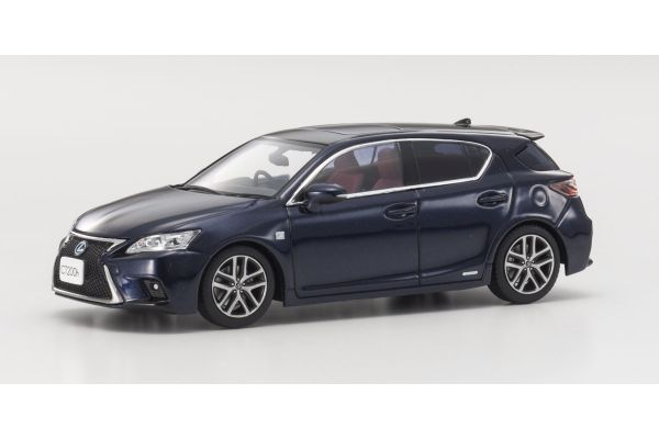 KYOSHO 1/43scale Lexus CT200h F Sport BK/Deep Blue Mica  [No.KS03656BL2]