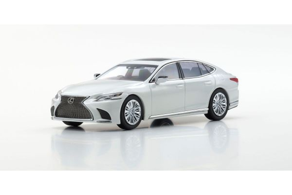 KYOSHO ORIGINAL 1/43scale Lexus LS500 (Sonic Quartz / White Pearl)  [No.KS03685Q]
