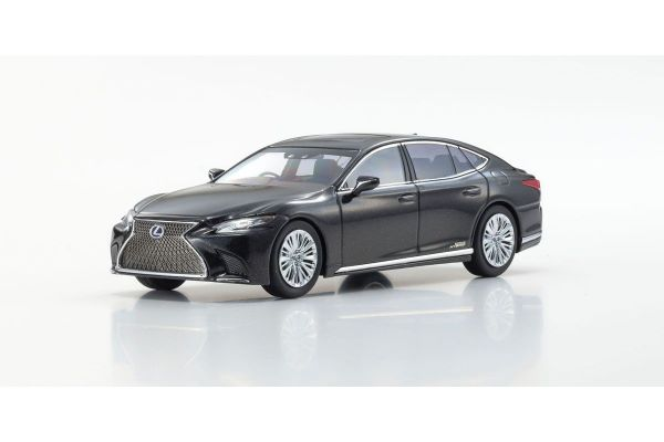 KYOSHO ORIGINAL 1/43scale Lexus LS500h (Graphite Black Glass Flake / Black)  [No.KS03686GBK]