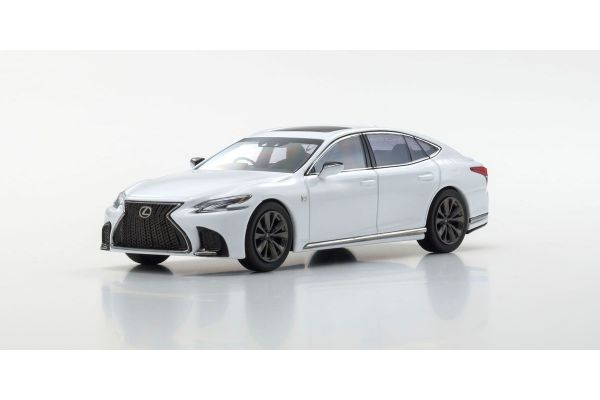 KYOSHO ORIGINAL 1/43scale Lexus LS500 F SPORT (White Nova Glass Flake / White)  [No.KS03687W]