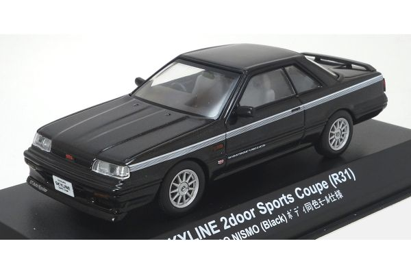 KYOSHO 1/43scale Nissan Skyline 2000 GTS NISMO R31 Black [No.KS03707NBK]