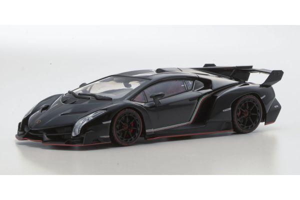 KYOSHO 1/43scale Lamborghini Veneno Black/Red Line Black [No.KS05571BKR]