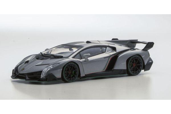 KYOSHO 1/43scale Lamborghini Veneno Gray/Green Line Gray [No.KS05571GRG]