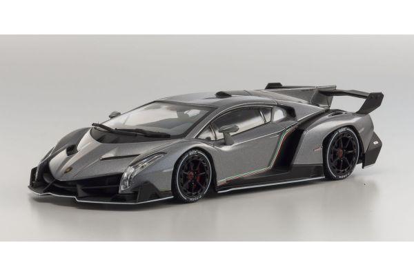 KYOSHO 1/43scale Lamborghini Veneno Grey / White Line [No.KS05571GRW]