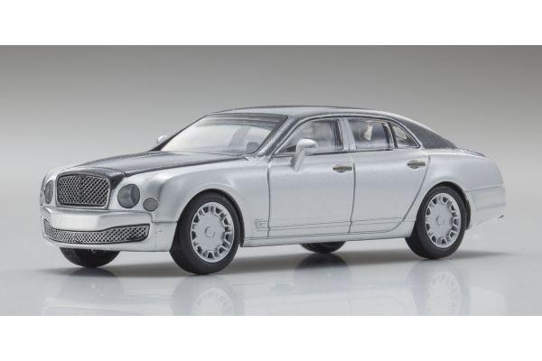KYOSHO 1/64scale Bentley Mulsanne Black/LightGray [No.KS07043A8]