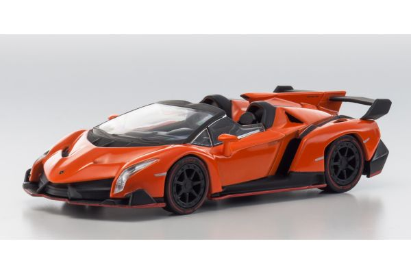 KYOSHO 1/64scale Lamborghini Veneno Roadster Orange [No.KS07045A13]