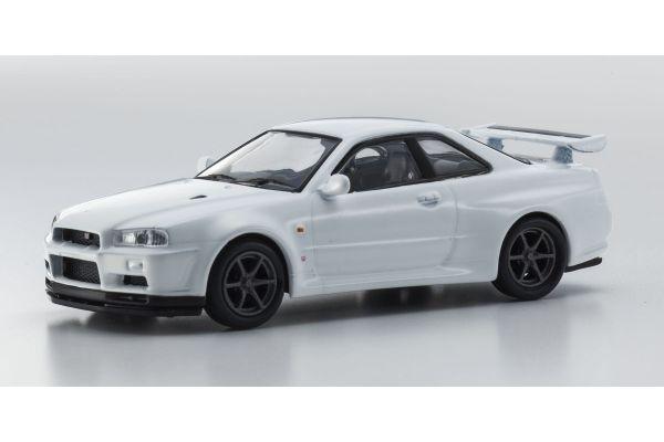 KYOSHO 1/64scale NISSAN SKYLINE GT-R(BNR34) White [No.KS07047A7]