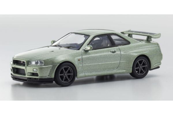 KYOSHO 1/64scale Nissan Skyline GT-R (BNR34) Light Green [No.KS07047A8]