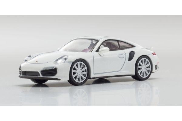 KYOSHO 1/64scale Porsche 911 Turbo 991 White [No.KS07048A16]