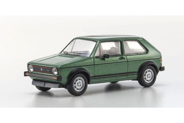 KYOSHO 1/64scale VW Golf GT1 1976 Green Metallic [No.KS07050A7]